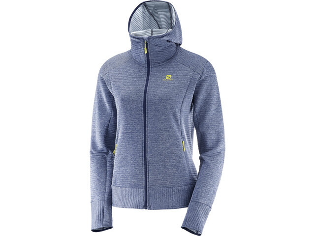 Salomon Right Nice Mid Hoodie Women medieval blue